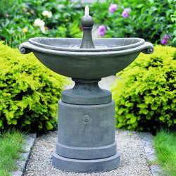 Medici Ellipse Garden Water Fountain, Garden Outdoor Fountains - Outdoor Fountain Pros