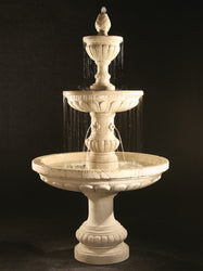 Mediterranean Fountain with Plumbed Spacer -Outdoor Fountain Pros