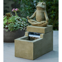 Mini Element Zen Frog Garden Terrace Fountain