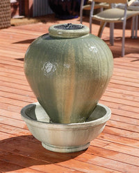 Mini Vase Garden Water Fountain, Urn Outdoor Fountains - Outdoor Fountain Pros