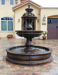 Montefalco Three Tier Pond Fountain - Outdoor Fountain Pros
