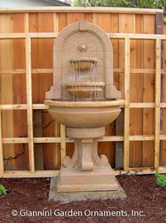 Montefalco Wall Fountain with Concrete Water Spout - Outdoor Fountain Pros