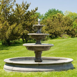 Newport Outdoor Water Fountain, Large Outdoor Fountains - Outdoor Fountain Pros