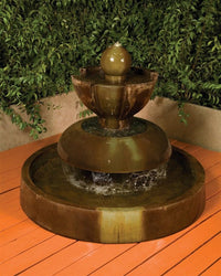 Nova Garden Water Fountain, Tiered Outdoor Fountains - Outdoor Fountain Pros