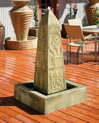 Obelisk Garden Water Fountain, Garden Outdoor Fountains - Outdoor Fountain Pros