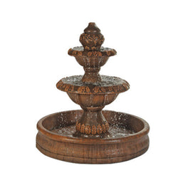 Oak Outdoor Water Fountain With 55 Inch Basin