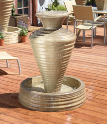 Olive Jar Garden Water Fountain, Urn Outdoor Fountains - Outdoor Fountain Pros