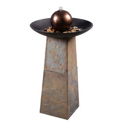 Orb Floor Fountain - Outdoor Fountain Pros