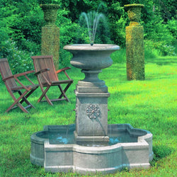 Palazzo Urn Outdoor Water Fountain, Garden Outdoor Fountains - Outdoor Fountain Pros
