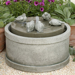 Passaros Birds Water Fountain, Garden Outdoor Fountains - Outdoor Fountain Pros