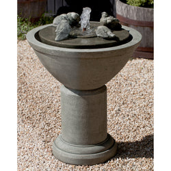 Passaros II Birds Water Fountain, Garden Outdoor Fountains - Outdoor Fountain Pros
