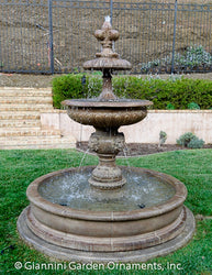 Piazza Veneta Pond Fountain - Outdoor Fountain Pros