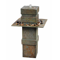 Pilaster Floor Fountain- Outdoor Fountain Pros