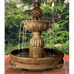 Piña Cascada Outdoor Fountain in Rondo Pool - Outdoor Fountain Pros