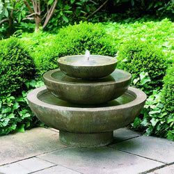 Platia Garden Water Fountain, Tiered Outdoor Fountains - Outdoor Fountain Pros