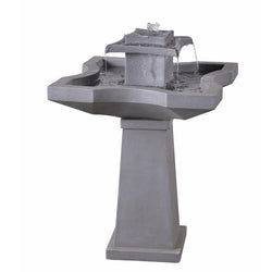 Quad Outdoor Floor Fountain - Outdoor Fountain Pros