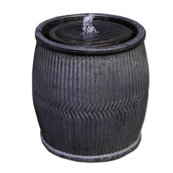 Rain Barrel Fountain - Bronze - Outdoor Fountain Pros