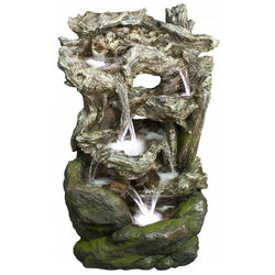 Rainforest Tiered Waterfall Fountain - Outdoor Fountain Pros