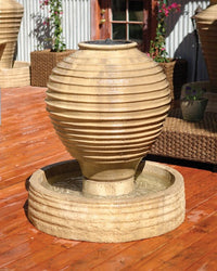 Ripple Vase Garden Water Fountain, Urn Outdoor Fountains - Outdoor Fountain Pros