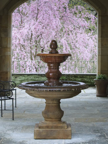 San Pietro Tiered Outdoor Water Fountain, Tiered Outdoor Fountains - Outdoor Fountain Pros