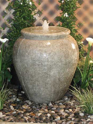 Santa Barbara Urn Garden Fountain with 2' Reservoir - Outdoor Fountain Pros