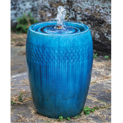 Short Malmo Glazed Garden Fountain - Outdoor Fountain Pros