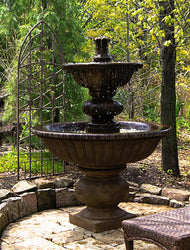 Sienna Outdoor Water Fountain, Garden Outdoor Fountains - Outdoor Fountain Pros