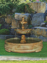 Small Tazza Tier Fountain in Grando Pool