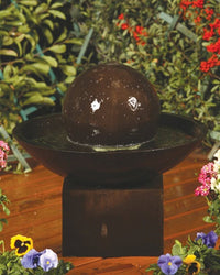 Small Wok With Pedestal Garden Water Fountain, Garden Outdoor Fountain - Outdoor Fountain Pros