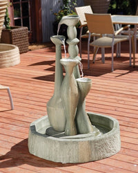 Spindel Garden Water Fountain, Tiered Outdoor Fountains - Outdoor Fountain Pros
