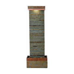 Stave Indoor/Outdoor Floor Fountain - Outdoor Fountain Pros