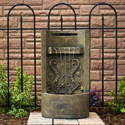 "The Tuscany 26"" Floor/Wall Fountain - Outdoor Fountain Pros"