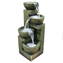 Three Tier Stone Bowl Water Fountain - Outdoor Fountain Pros