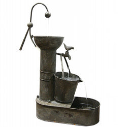 Tiering Tin Fountain - Outdoor Fountain Pros