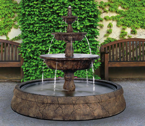 Triple Tazza Tier Fountain in Europa Pool