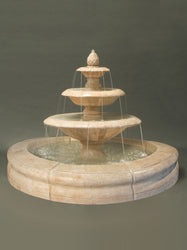 Venetian Fountain with Fiore Pond - Gray - Outdoor Fountain Pros