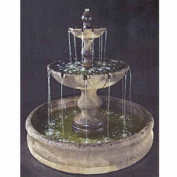 Vicenza Tiered Outdoor Fountain with Basin - Outdoor Fountain Pros