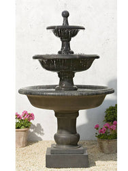 Vicobello Tiered Outdoor Water Fountain, Tiered Outdoor Fountains - Outdoor Fountain Pros