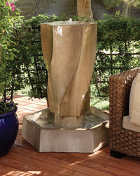 Vortex Outdoor Water Fountain, Large Outdoor Fountains - Outdoor Fountain Pros