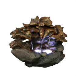 Cascading Leaf Tabletop Fountain - Outdoor Fountain Pros