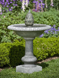 Williamsburg Pineapple Garden Water Fountain, Garden Outdoor Fountains - Outdoor Fountain Pros
