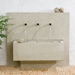 X3 Outdoor Wall Water Fountain, Wall Outdoor Fountains - Outdoor Fountain Pros
