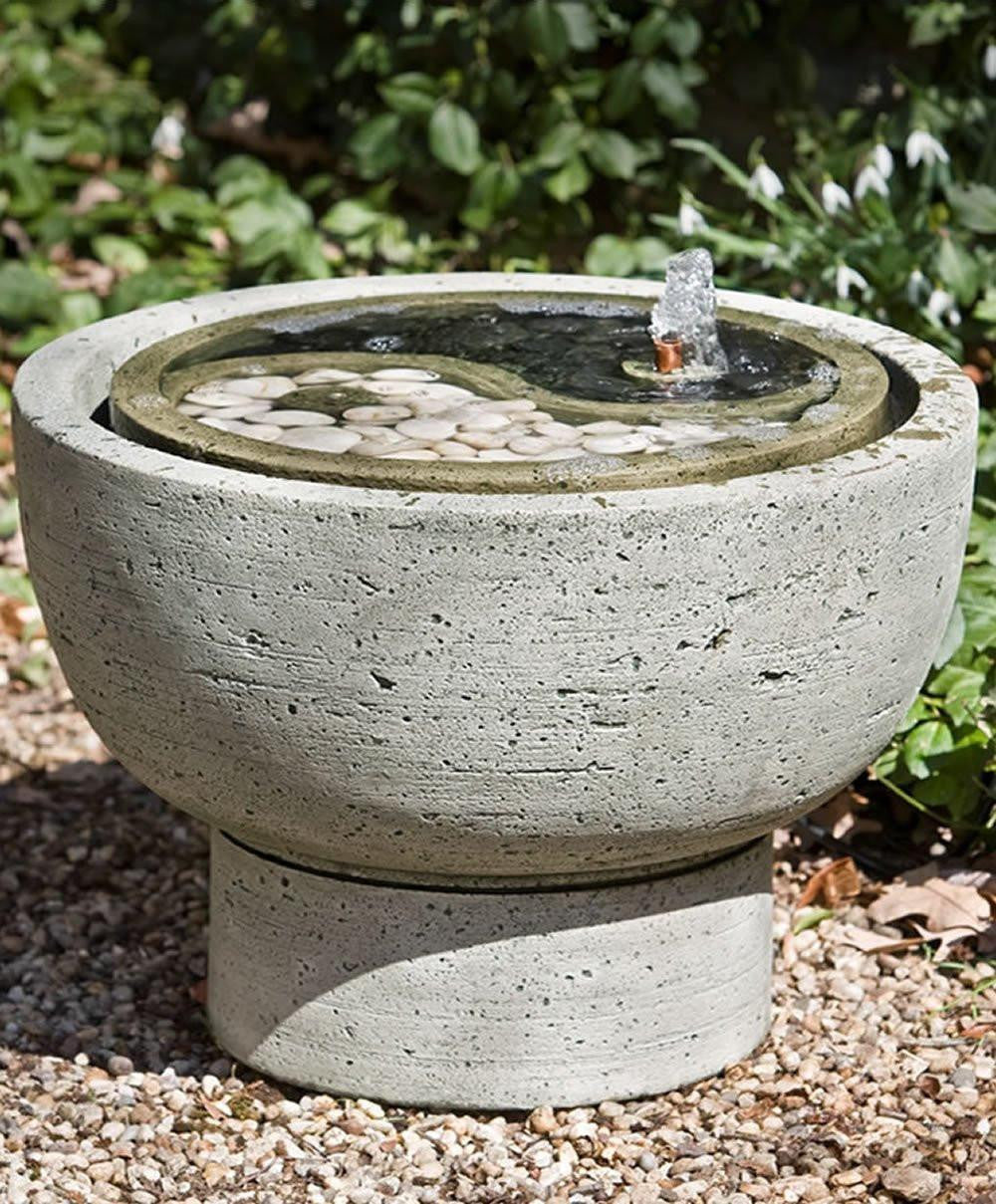 Yin Yang Pot Garden Water Fountain, Garden Outdoor Fountains   Outdoor  Fountain Pros ...