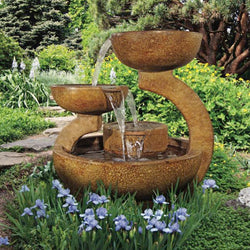 Zen Three Bowl Fountain   Outdoor Fountain Pros