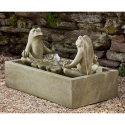 Zen Too Frog Garden Water Feature Fountain, Garden Outdoor Fountains - Outdoor Fountain Pros