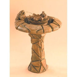 Happy Frog Cast Stone Garden Fountain, Garden Outdoor Fountains - Outdoor Fountain Pros