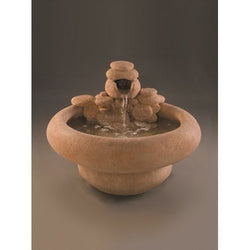Large Serenity Cast Stone Garden Fountain, Garden Outdoor Fountains - Outdoor Fountain Pros