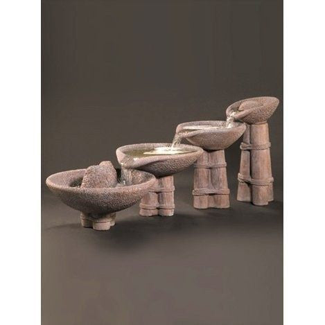 Aggregate Outdoor Water Fountain, Tiered Outdoor Fountains - Outdoor Fountain Pros