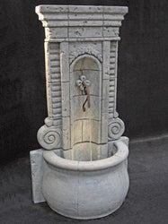 Champagne Wall Outdoor Fountain - Tall, Wall Outdoor Fountains - Outdoor Fountain Pros