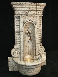 Champagne Wall Outdoor Fountain, Wall Outdoor Fountains - Outdoor Fountain Pros